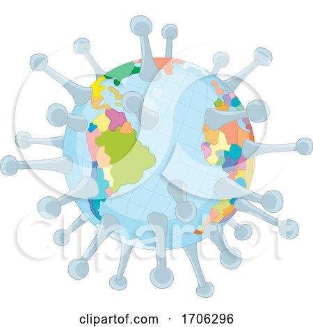 Covid19 Coronavirus Globe by Alex Bannykh