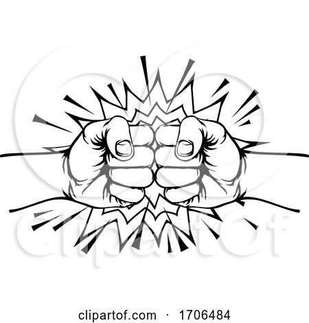 Fist Bump Punch by AtStockIllustration