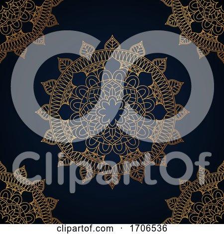 Elegant Mandala Background by KJ Pargeter