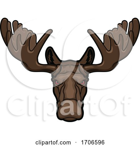 Tough Moose Mascot by Vector Tradition SM