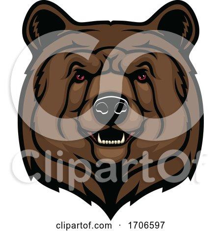 Tough Bear Mascot by Vector Tradition SM