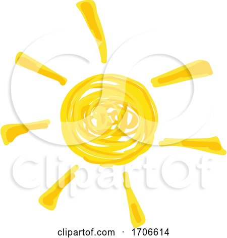 Finger Paint Styled Sun by dero
