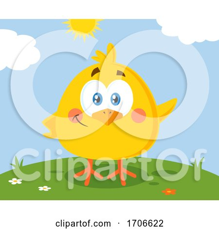 Yellow Easter Chick on a Sunny Day Posters, Art Prints