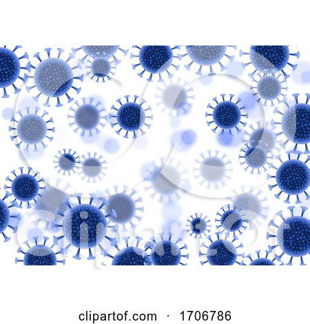Abstract Virus Cells Background - Covid 19 Global Pandemic Design by KJ Pargeter