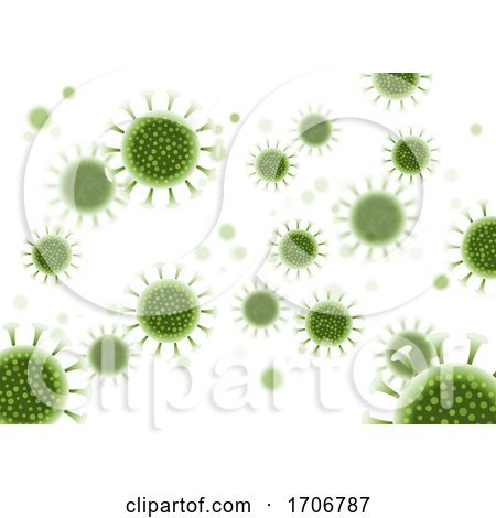 Abstract Virus Cells Background - Covid 19 Pandemic by KJ Pargeter