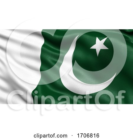 3D Illustration of the Flag of Pakistan Waving in the Wind by stockillustrations