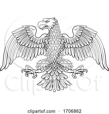 Eagle Imperial Heraldic Symbol by AtStockIllustration