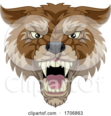 Wolf or Werewolf Monster Scary Dog Angry Mascot Posters, Art Prints