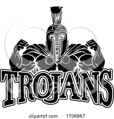 Spartan Trojan Sports Mascot by AtStockIllustration