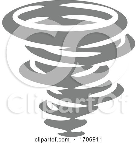 A tornado twister hurricane or cyclone stylised icon concept by AtStockIllustration