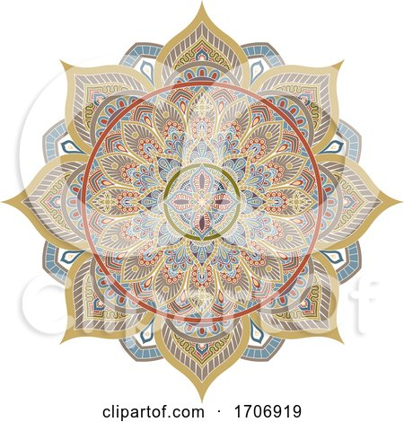 Pattern Motif Mandala Art Ornament Design Element Posters, Art Prints