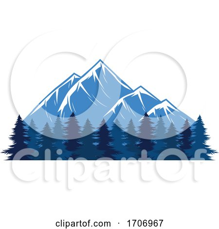 Forest and Mountains Logo by Vector Tradition SM