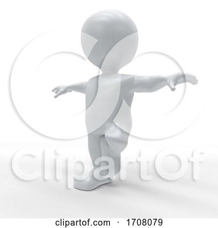 3D Morph Man in Yoga Pose by KJ Pargeter