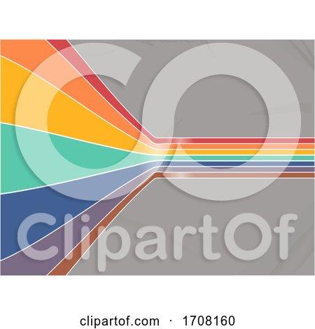 Curving Bended Rainbow Stripes Vintage Background by elaineitalia