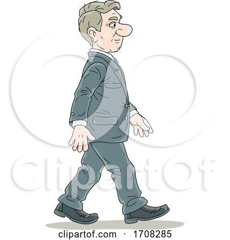 Businessman Walking by Alex Bannykh