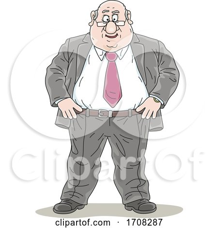 Politician Standing with Hands on His Hips by Alex Bannykh