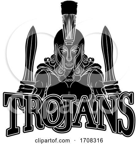Spartan Trojan Female Warrior Gladiator Woman by AtStockIllustration