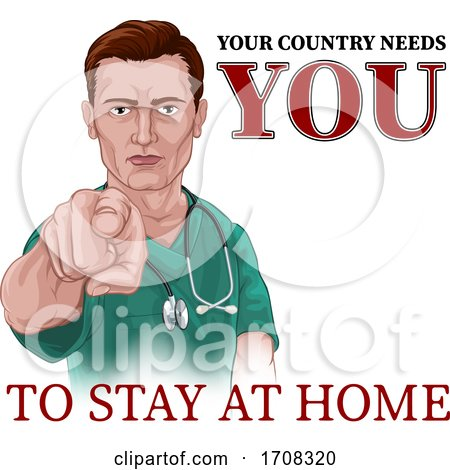 Nurse Doctor Pointing Your Country Needs You by AtStockIllustration