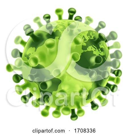 Coronavirus Virus Cell Global Pandemic World by AtStockIllustration