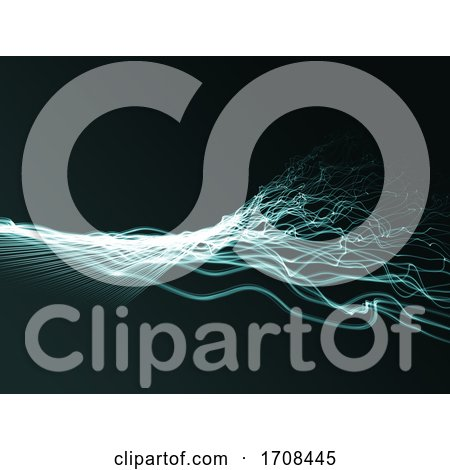 3D Abstract Background with Flowing Twisted Strands by KJ Pargeter