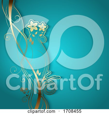 Elegant Background with Decorative Floral Design Posters, Art Prints
