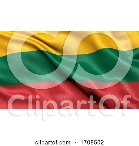 3D Illustration of the Flag of Lithuania Waving in the Wind by stockillustrations