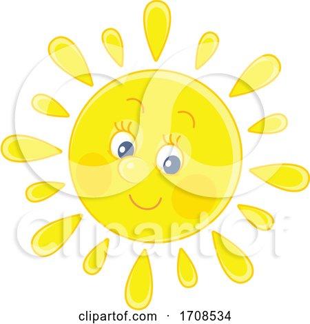 Spring or Summer Sun Mascot by Alex Bannykh