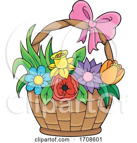 Basket Full of Spring Flowers by visekart
