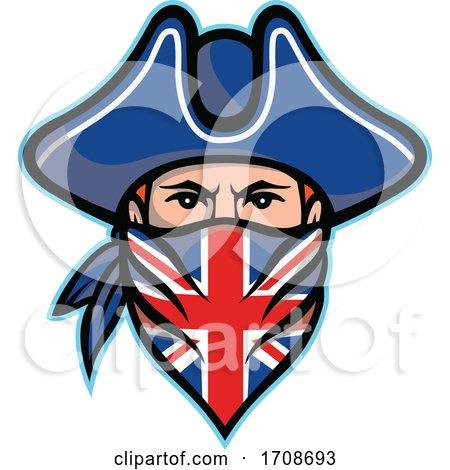 British Highwayman Wearing Bandana Mascot by patrimonio