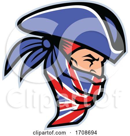 Highwayman Wearing Union Jack Bandana Side Mascot by patrimonio