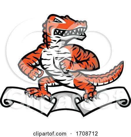 Gator with Tiger Stripes on a Ribbon by patrimonio
