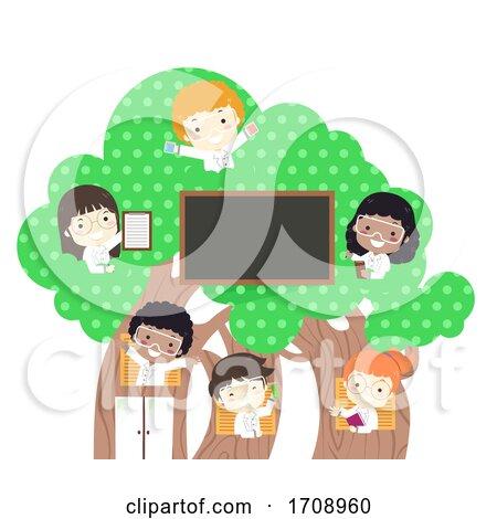 Kids Scientists White Coat Tree Illustration by BNP Design Studio