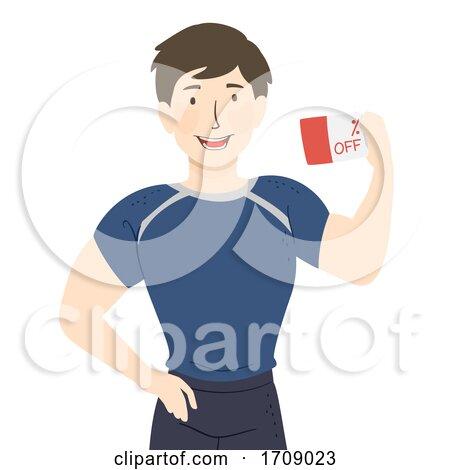 Man Fitness Discount Coupon Illustration by BNP Design Studio