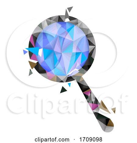 Magnifying Glass Geometric Design Illustration by BNP Design Studio