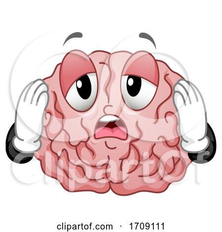Mascot Brain Exhausted Illustration by BNP Design Studio