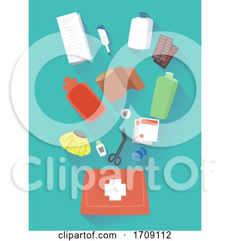 First Aid Kit Elements Illustration by BNP Design Studio
