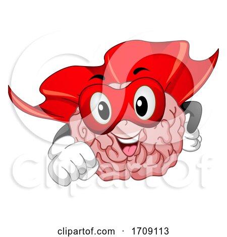 Mascot Super Brain Illustration by BNP Design Studio