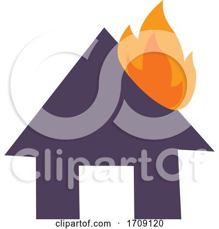 Burning House Icon by BNP Design Studio