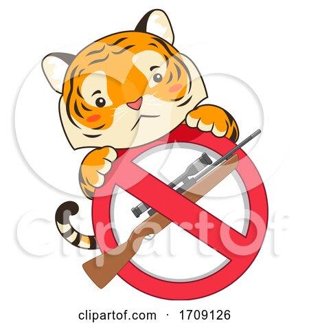Mascot Tiger Stop Killing Illustration by BNP Design Studio