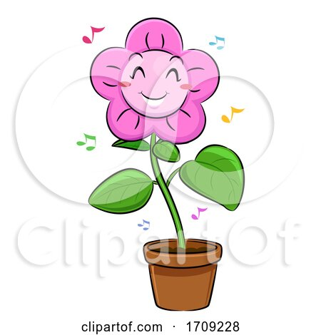 Mascot Flower Dancing Illustration by BNP Design Studio