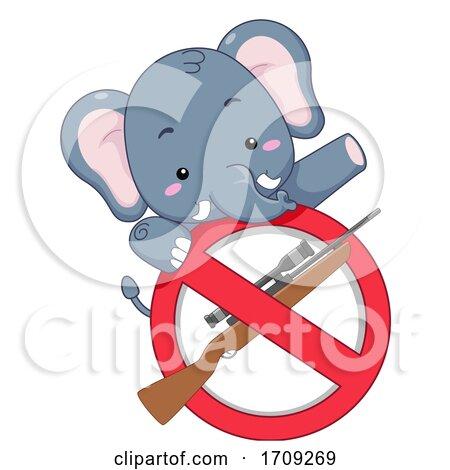 Elephant Stop Killing Illustration by BNP Design Studio