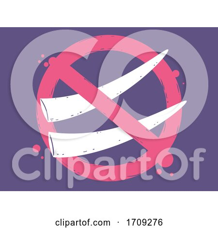 Elephant Ivory Tusk Stop Sign Illustration by BNP Design Studio
