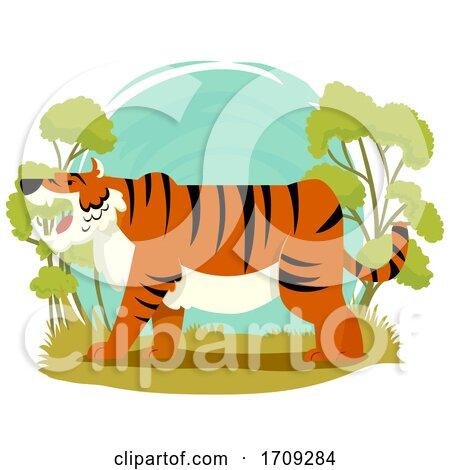 Tiger Wildlife Illustration by BNP Design Studio