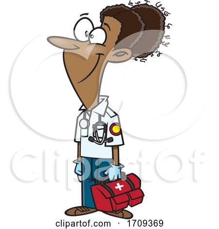 Cartoon Female EMT by toonaday