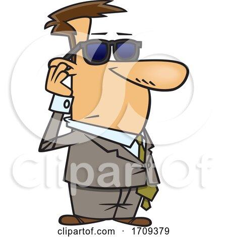 Cartoon Male Bodyguard by toonaday