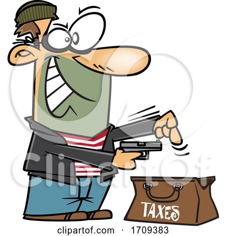 Cartoon Male Tax Thief by toonaday