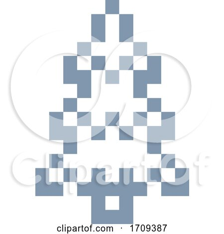 Tree Pixel 8 Bit Video Game Art Icon Posters, Art Prints