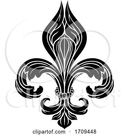 Fleur De Lis Graphic by AtStockIllustration