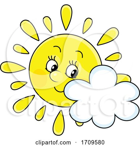 Sun Mascot and Cloud by Alex Bannykh