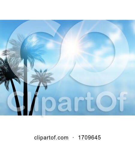 Summer Palm Tree Background by KJ Pargeter